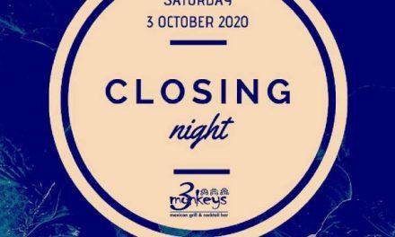 3 Monkeys Closing Night   ΣΑΒ 03.10